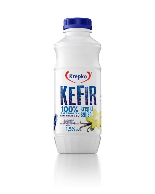 Kefir Krepki suhec/vanilja 500g