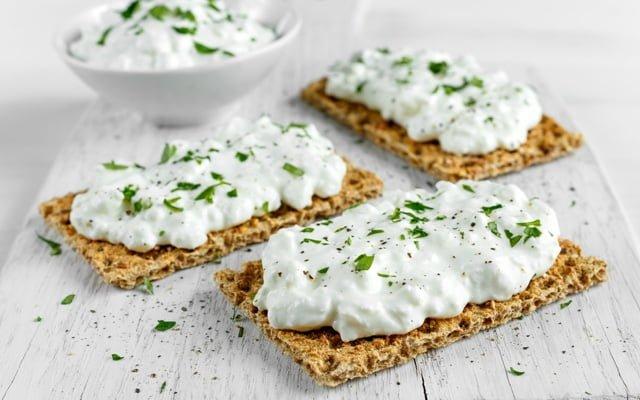Kajmak cheese and cheese in brine
