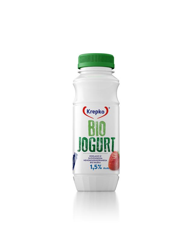 Bio jogurt jagoda 1,5% 250g