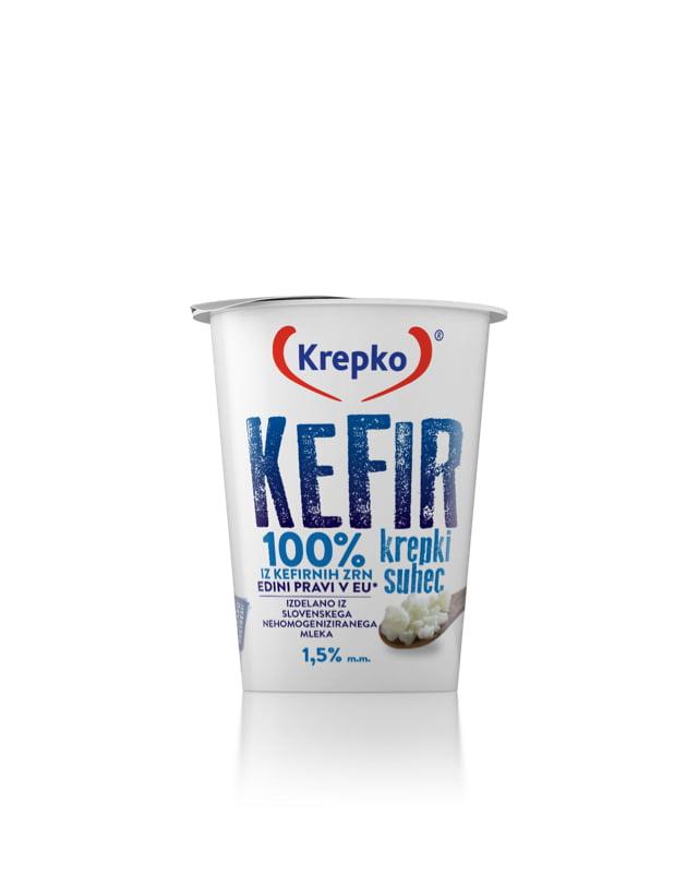 Kefir Krepki suhec 1,5% mm 200g