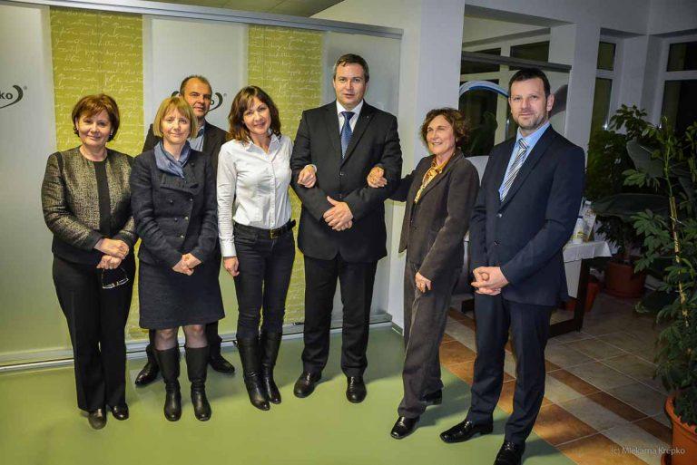 Obisk ministra Dejana Židana v Mlekarni Krepko
