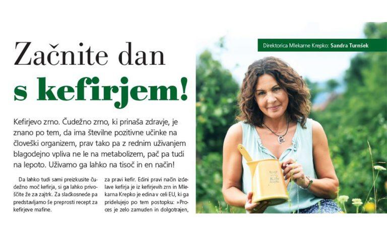 Začnite dan s kefirjem - revija Liza Maja